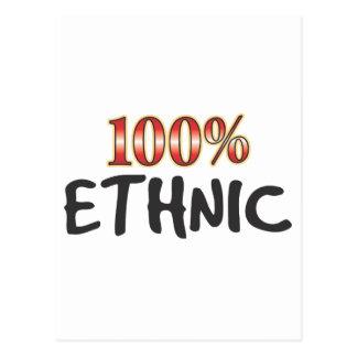 Ethnic 100 Percent Post Card