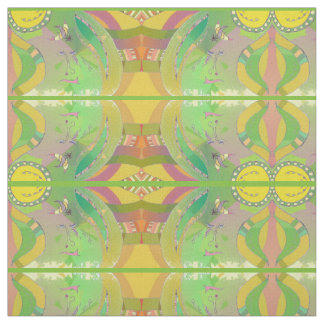 Ethnic Abstract Art Patterned Fabric