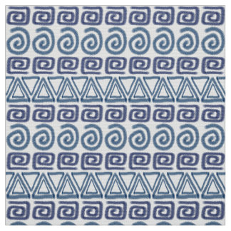 ethnic african hand-drawn pattern fabric