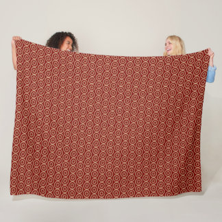 ethnic african hand-drawn pattern fleece blanket