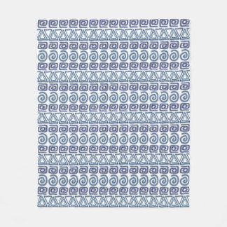 ethnic african hand-drawn pattern fleece blanket