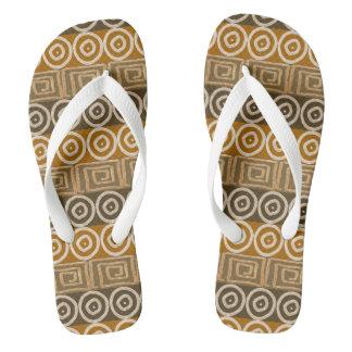 Ethnic african hand-drawn  pattern. flip flops