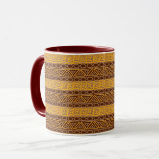 ethnic african hand-drawn pattern mug
