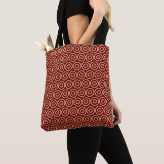 Ethnic african hand-drawn red pattern. tote bag