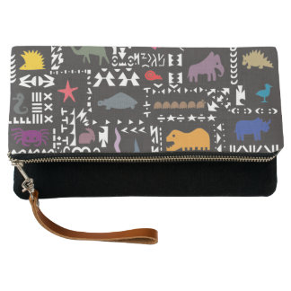 ETHNIC AFRICAN PATTERN CLUTCH BAG