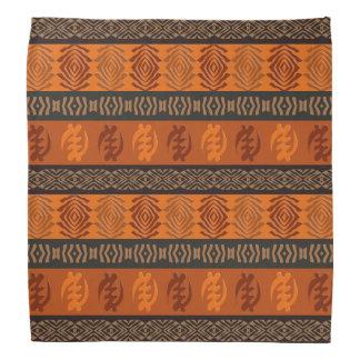 Ethnic African pattern with Adinkra simbols Bandana