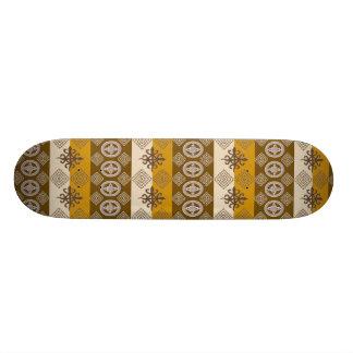 Ethnic African pattern with Adinkra simbols Custom Skate Board