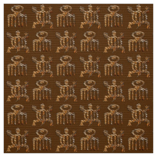 Ethnic African pattern with Adinkra simbols Fabric