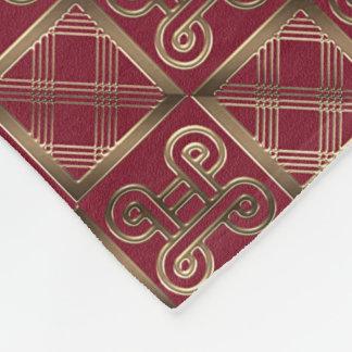 Ethnic African pattern with Adinkra simbols Fleece Blanket
