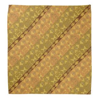 ethnic african pattern with Adinkra simbols Kerchief