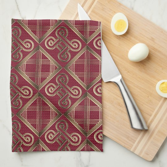Ethnic African pattern with Adinkra simbols Kitchen Towel