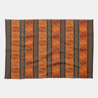 Ethnic African pattern with Adinkra simbols Kitchen Towel