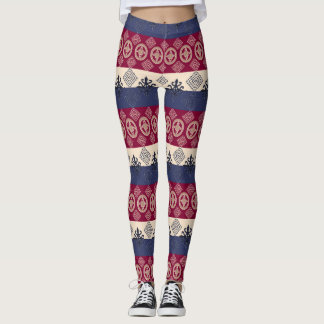 Ethnic African pattern with Adinkra simbols Leggings