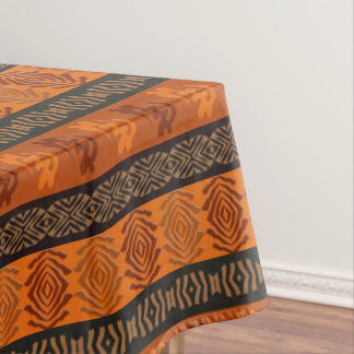 Ethnic African pattern with Adinkra simbols Tablecloth