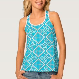 Ethnic African pattern with Adinkra simbols Tank Top