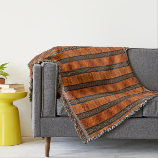 Ethnic African pattern with Adinkra simbols Throw Blanket