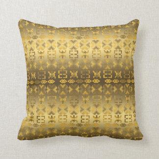 Ethnic African pattern with Adinkra simbols Throw Pillow