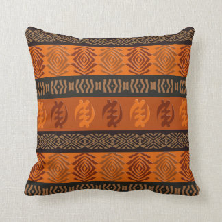 Ethnic African pattern with Adinkra simbols Throw Pillow