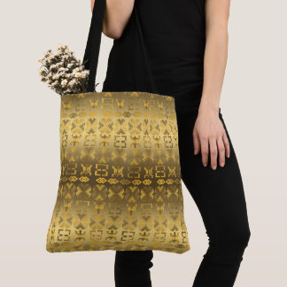 Ethnic African pattern with Adinkra simbols Tote Bag