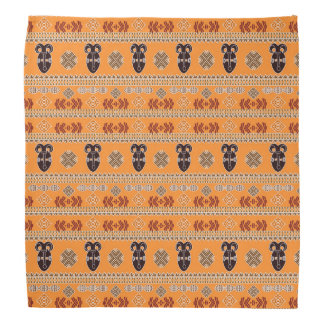 ethnic african  pattern with simbols. do-rags