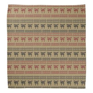 ethnic african  pattern with simbols. kerchief