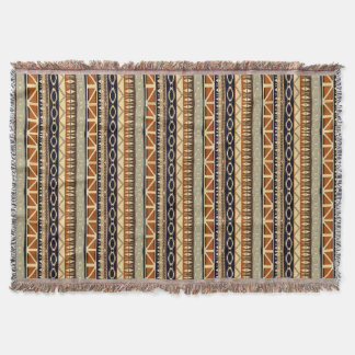 ethnic african seamless pattern throw