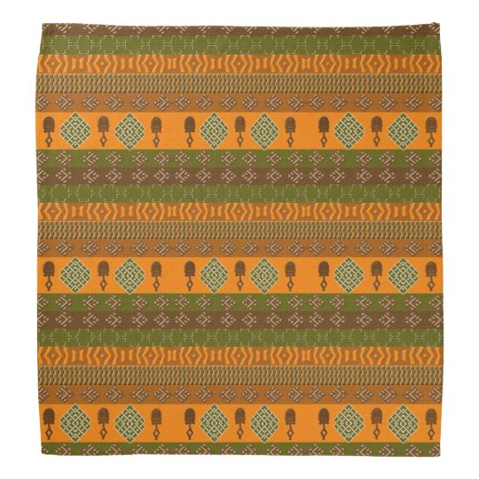 ethnic african striped tribal pattern. bandana