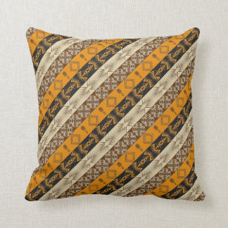 ethnic african striped tribal pattern. throw pillow