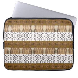 ethnic african stripes  seamless pattern laptop sleeve