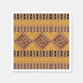 ethnic african tribal geometric pattern paper napkin