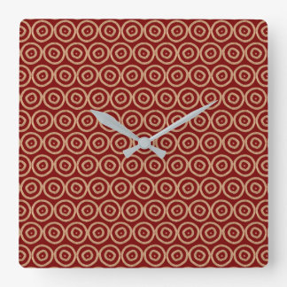 Ethnic african tribal hand drawn pattern. square wall clock