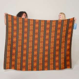 ethnic african tribal pattern. Adinkra simbols. Fleece Blanket