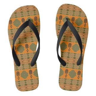 ethnic african tribal pattern flip flops