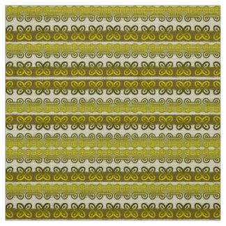 Ethnic african tribal pattern with Adinkra simbols Fabric