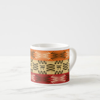 Ethnic african tribal striped pattern. espresso cup