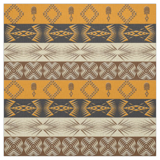 Ethnic African tribal striped pattern Fabric