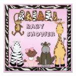 Ethnic Baby Girl & Safari Animals Baby Shower