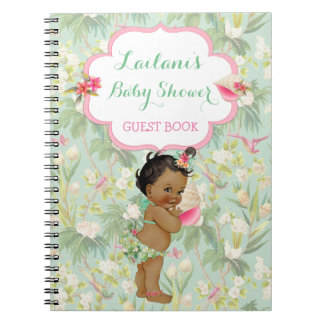 Ethnic Baby Tropical Hawaiian Shower Guest Book