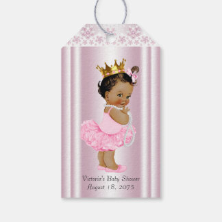 Ethnic Ballerina Tutu Pearl and Lace Baby Shower Gift Tags