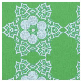 Ethnic blue design fabric