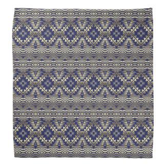 ethnic bohemian golden pattern bandana