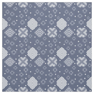 Ethnic boho style blue jeans pattern. fabric