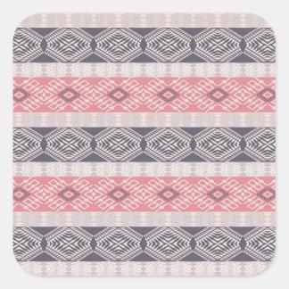 Ethnic boho style geometric pattern. square sticker