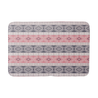 Ethnic boho style striped pattern. bath mat