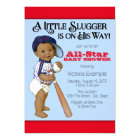 Ethnic Boy Baseball Baby Shower Card