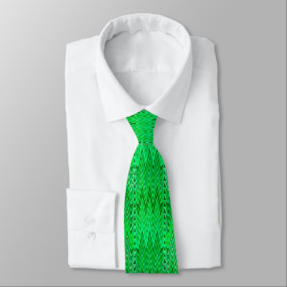 Ethnic Chevron Damask, Emerald and Lime Green Tie