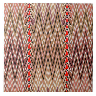 Ethnic Chevron Damask, Taupe Tan and Beige Tile