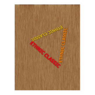 Ethnic Classic With Background wood Post Cards