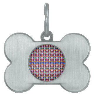 Ethnic Colorful Pattern Pet Name Tag