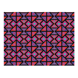 Ethnic Colorful Pattern Postcard